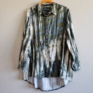 Soft Surroundings | Tie Dye Button Down Shirt NWOT